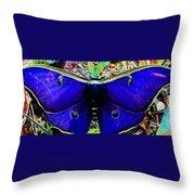 Luna Moth Uv Pano Throw Pillow