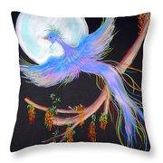 Luna Phoenix Throw Pillow