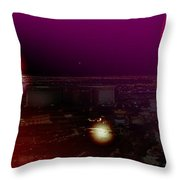 Luna Vegas Throw Pillow