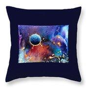 Luna Violet Throw Pillow