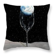 Lunar Cocktail Throw Pillow