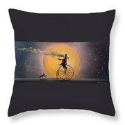 Lunar Cycle Throw Pillow