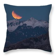 Lunar Eclipse In Lofoten Throw Pillow