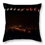 Lunar Eclipse - Red Moon- Step By Step Throw Pillow