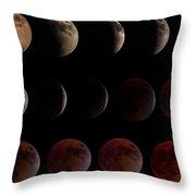 Lunar Eclipse Sequence Throw Pillow