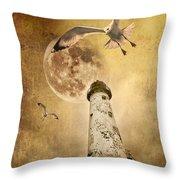 Lunar Flight Throw Pillow