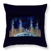 Lunar Genesis Throw Pillow