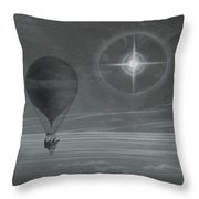 Lunar Halo And Luminescent Cross Observed During The Balloon Zenith's Long Distance Flight Throw Pillow