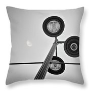 Lunar Lamp In Black And White Throw Pillow