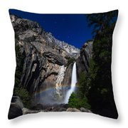 Lunar Rainbow Throw Pillow