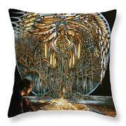 Lunar Sanctuary Throw Pillow