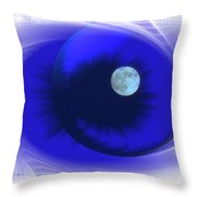 Lunarblue Throw Pillow