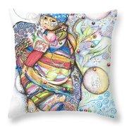 Lunas Y Estrellas Perdidas- Sombra De Arreguin Throw Pillow