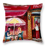 Lunch At The Mazurka Throw Pillow