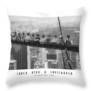 Lunch Atop A Skyscraper, By Lego Throw Pillow