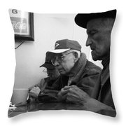 Lunch Counter Boys - Black And White Throw Pillow