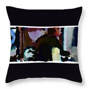 Lunch Counter Throw Pillow by Steve Karol