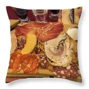Lunch Fraschetta Throw Pillow