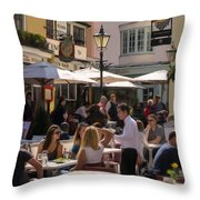 Lunch In Brighton Throw Pillow by Trevor Wintle