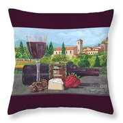 Lunch In Provence Throw Pillow