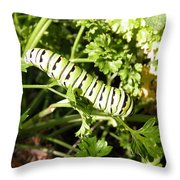 Lunch In The Garden Throw Pillow