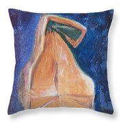 Lunch Sack Blue Throw Pillow