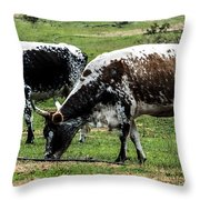 Lunch With A Friend Throw Pillow
