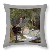 Luncheon On The Grass, Centre Panel Throw Pillow