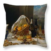 Luncheon Still Life, At And By John F. Francis Throw Pillow