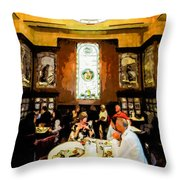 Luncheon Trays Throw Pillow