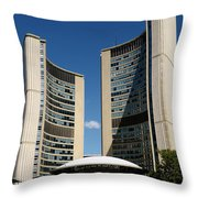 Lunchtime At Nathan Philips Square Toronto City Hall Throw Pillow