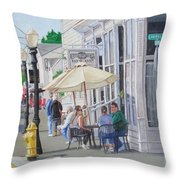 Lunchtime In Florence, Or Throw Pillow