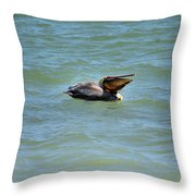 Lunchtime Pelican  Throw Pillow