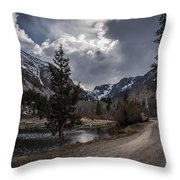 Lundy Lake Road Throw Pillow