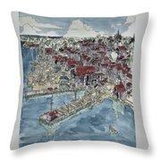 Lunenburg Port Throw Pillow