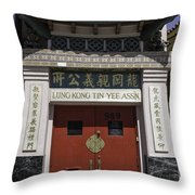 Lung Kong Tin Yee Association Red Doors Throw Pillow