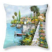 Lungolago Throw Pillow by Guido Borelli