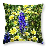 Lupine Amidst Tidy Tips Throw Pillow