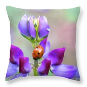 Lupine And Friends Throw Pillow