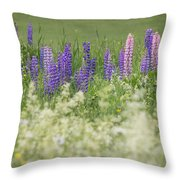 Lupine Bright Throw Pillow