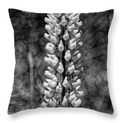 Lupine In Black And White Throw Pillow