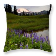 Lupine Sunrise Throw Pillow by Mike  Dawson