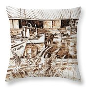 Lupines At Murray B_w Throw Pillow