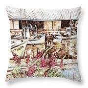 Lupines At Murray Harbour Throw Pillow