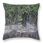 Lupus Luna Throw Pillow