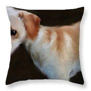 Lurcher Portrait  Throw Pillow