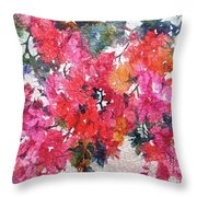 Luscious Bougainvillea Throw Pillow by Michelle Abrams