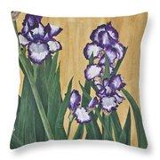 Luscious Iris Throw Pillow