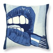 Luscious Lips Sink Ships Throw Pillow
