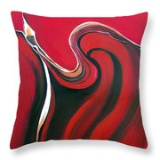 Luscious Red Throw Pillow